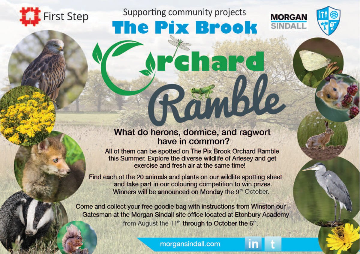 Sponsoring The Pix Brook Orchard Ramble at Etonbury