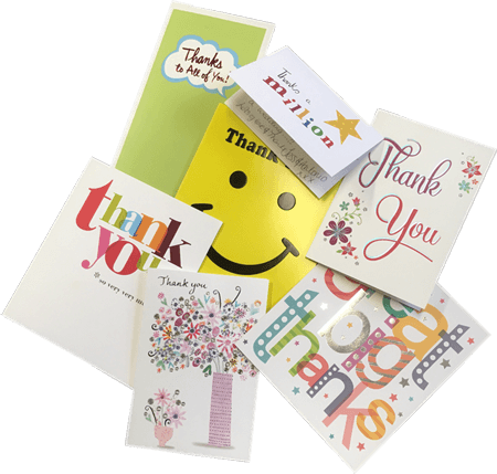 pile of thank you cards